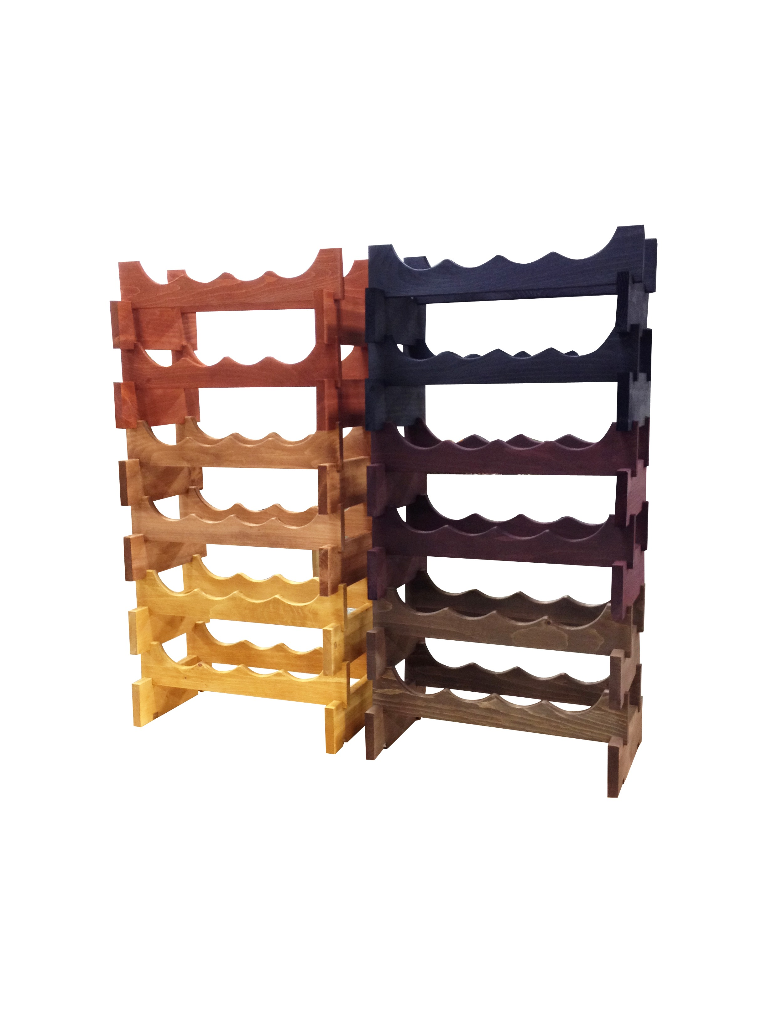 Wine Rack Stackable Wooden